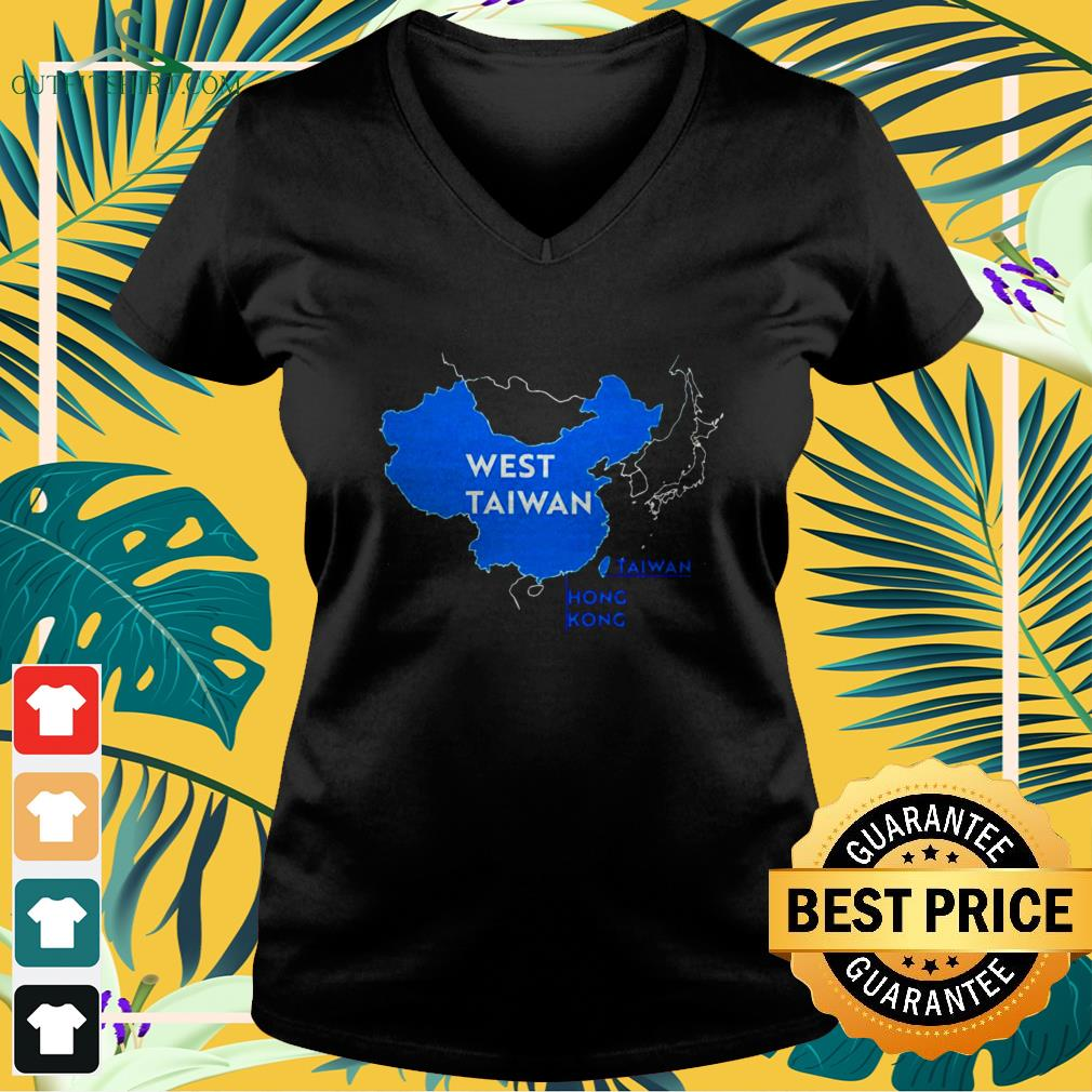 China map West Taiwan funny v-neck t-shirt