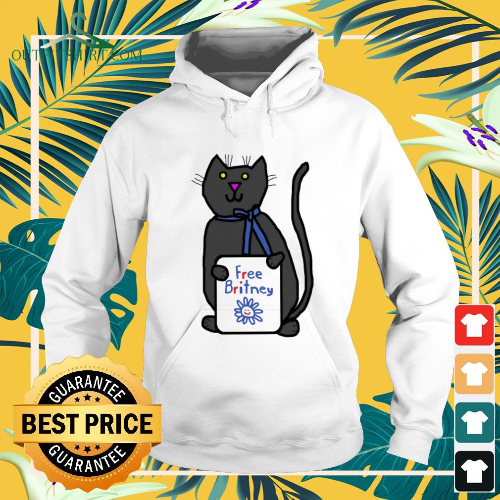 Cute cat with Free Britney sign hoodie