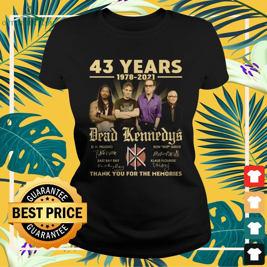 Dead Kennedys 43 Years 1978-2021 thank you for the memories signature ladies-tee