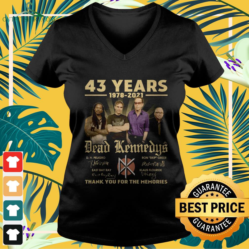 Dead Kennedys 43 Years 1978-2021 thank you for the memories signature v-neck t-shirt