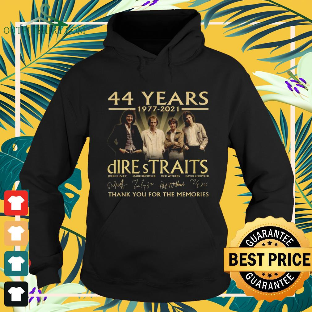 Dire Straits Rock band 44 Years 1977-2021 thank you for the memories signature hoodie
