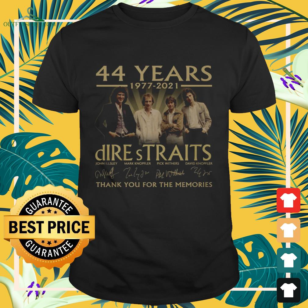 Dire Straits Rock band 44 Years 1977-2021 thank you for the memories signature shirt