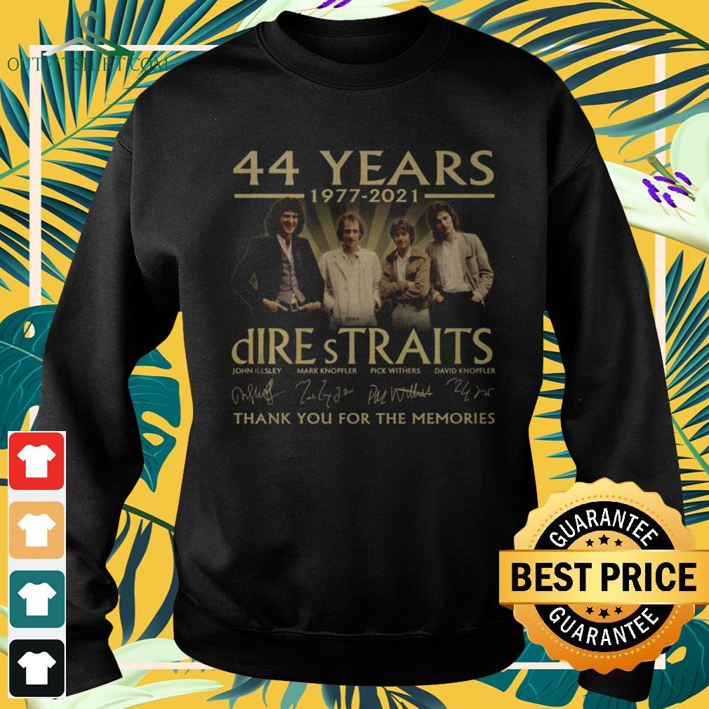 Dire Straits Rock band 44 Years 1977-2021 thank you for the memories signature sweater