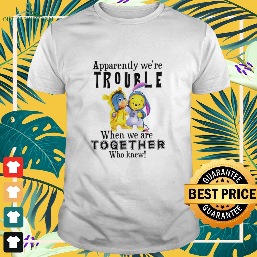Eeyore and Winnie Pooh apparently were trouble when were together who knew shirt