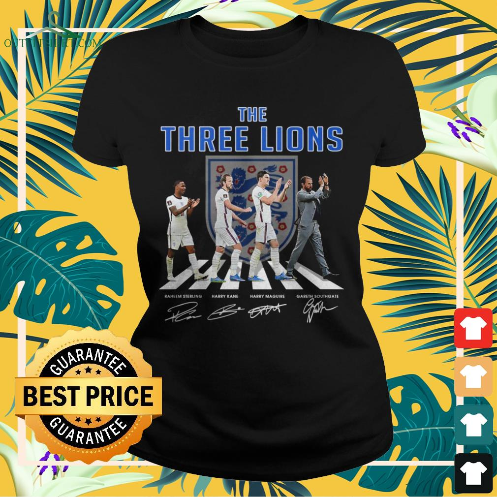 England The Three Lions Abbey Road signature ladies-tee