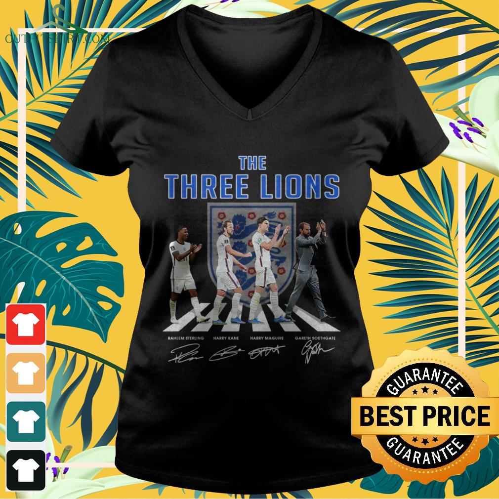 England The Three Lions Abbey Road signature v-neck t-shirt