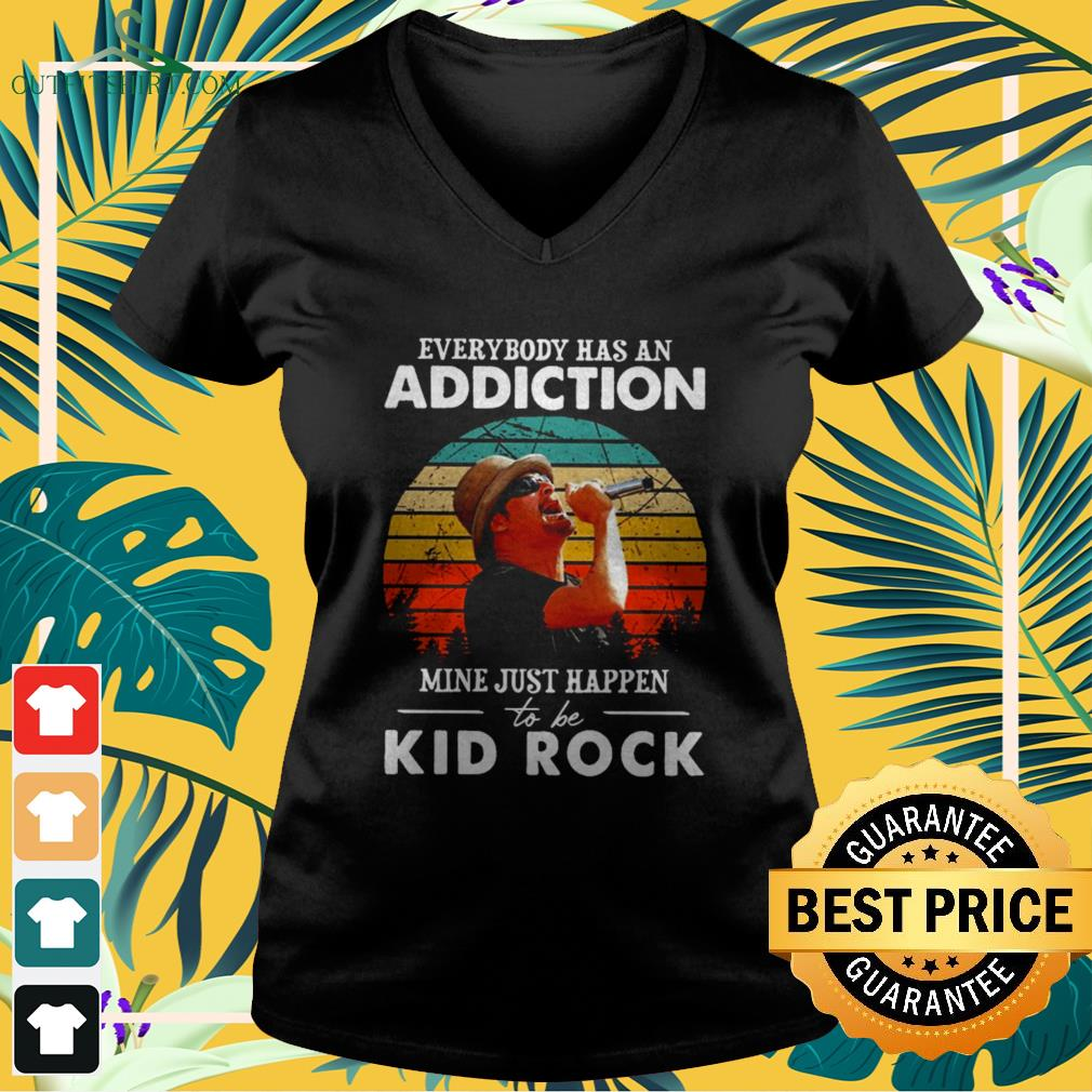 Everybody has an addiction mine just happen to be Kid Rock vintage v-neck t-shirt