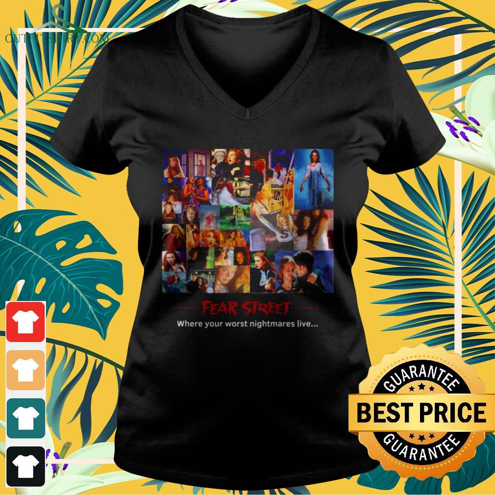 Fear Street where your worst nightmares live v-neck t-shirt