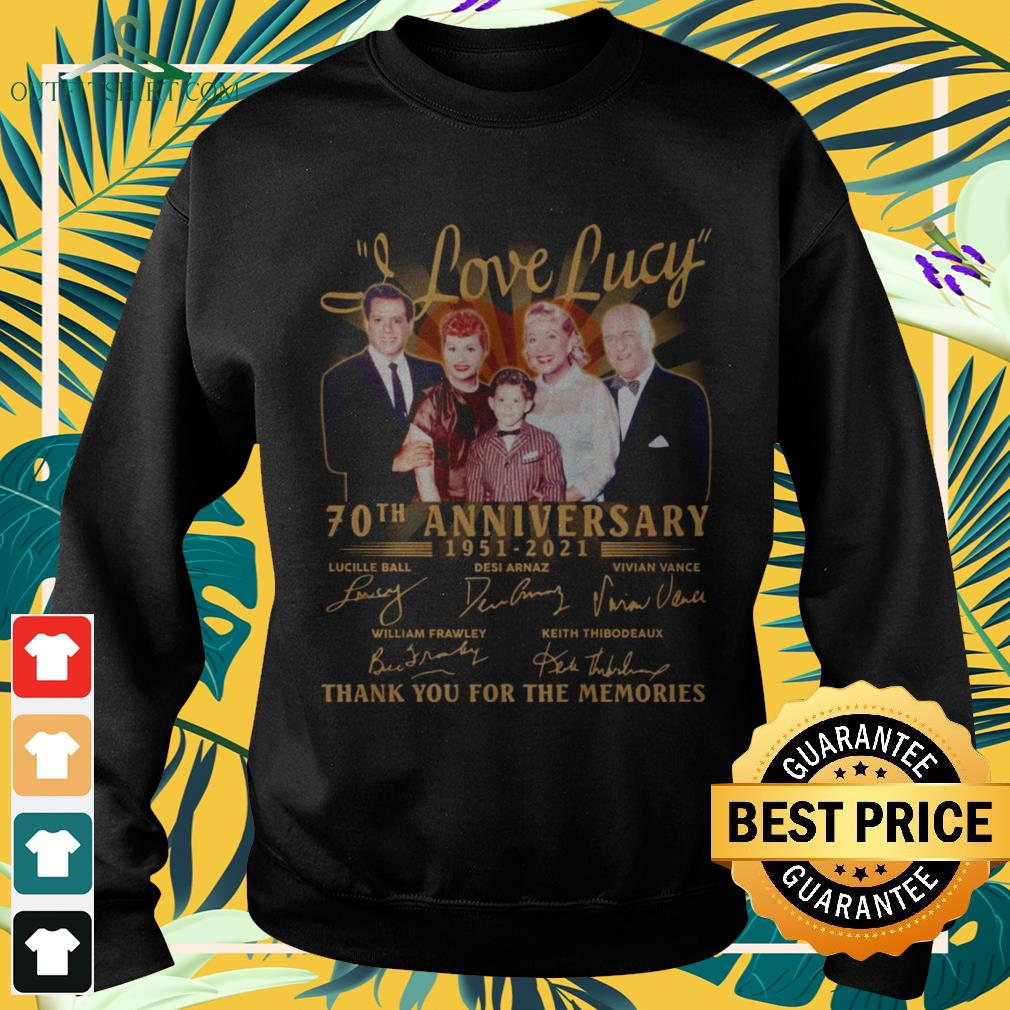 I love Lucy 70th anniversary 1951-2021 thank you for the memories sweater