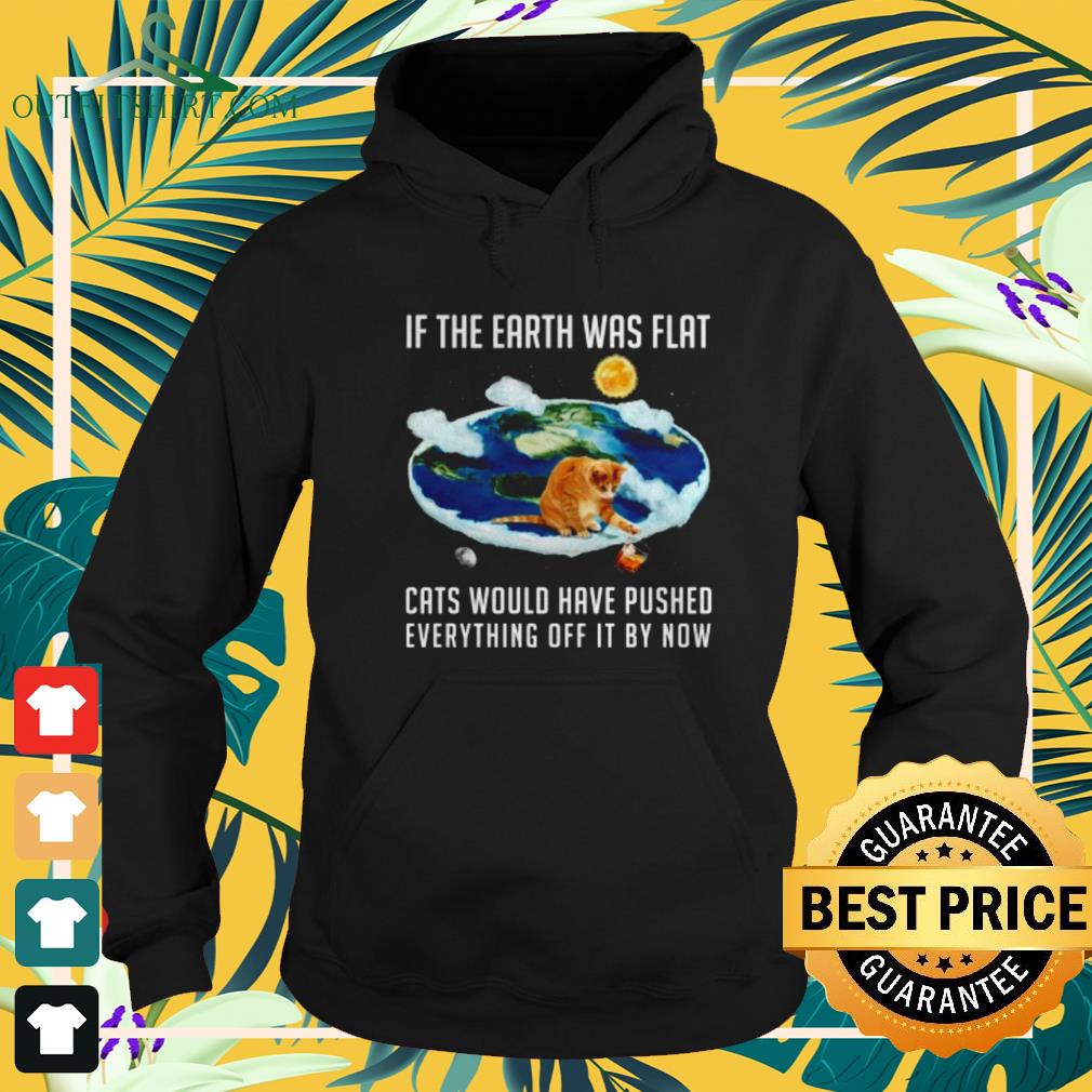 If the Earth was flat cats whould have push everything off by now hoodie