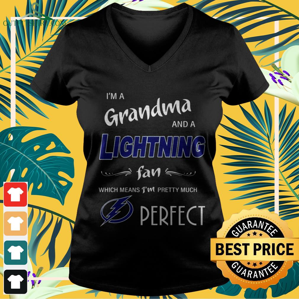 I'm ad grandma and a Lightning fan which means I'm pretty much perfect v-neck t-shirt