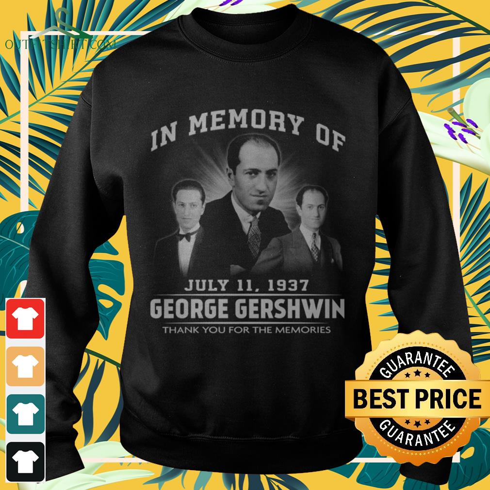 In memory of July 11 1937 Geogre Gherwin thank you for the memories sweater