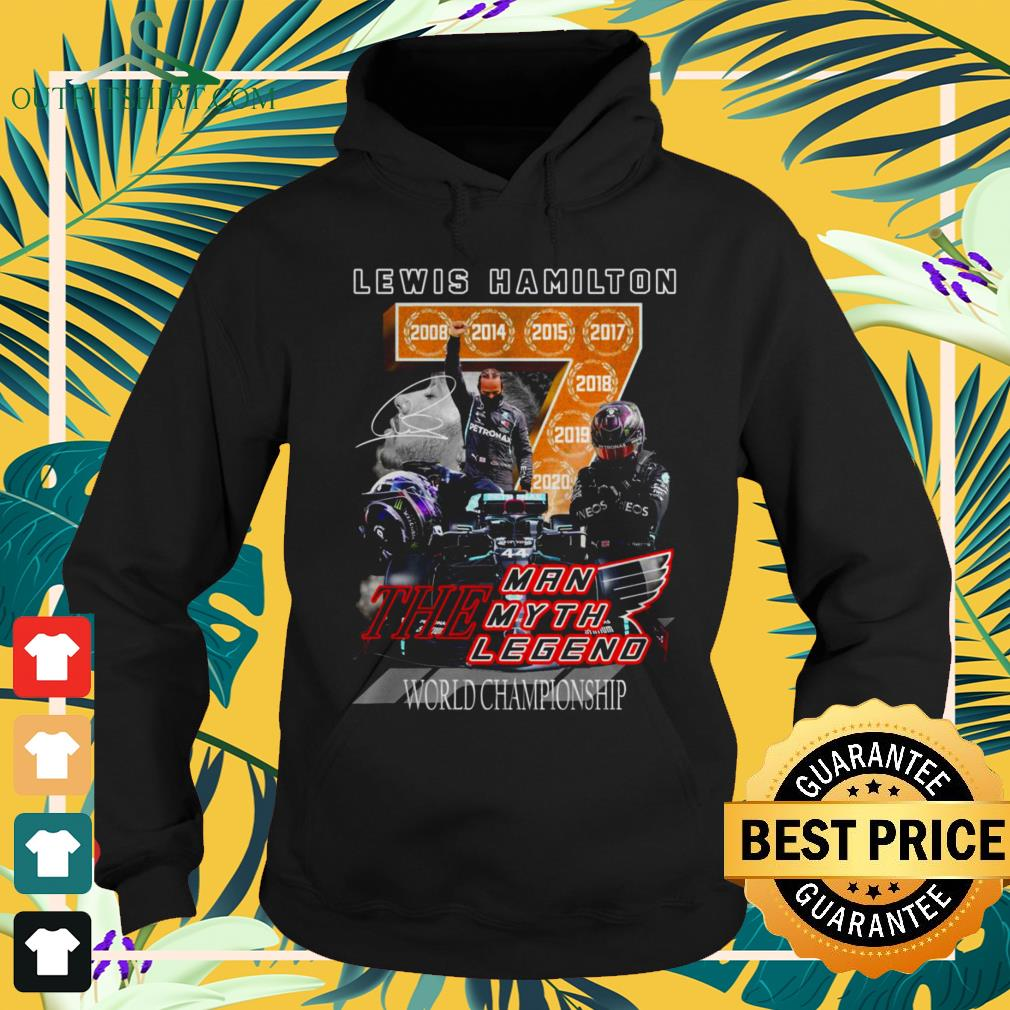 Lewis Hamilton the man the myth and the legend world championship signature hoodie