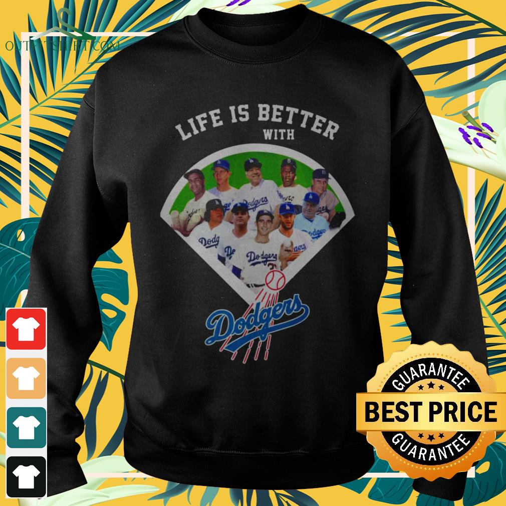 Life is better with Los Angeles Dodgers baseball team sweater
