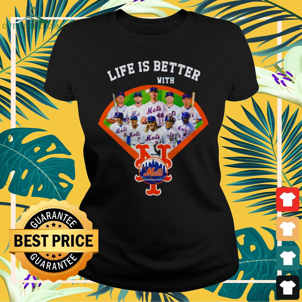 Life is better with New York Mets baseball team ladies-tee