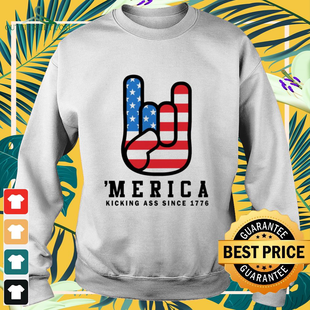 Merica kicking ass since 1776 4th of July sweater