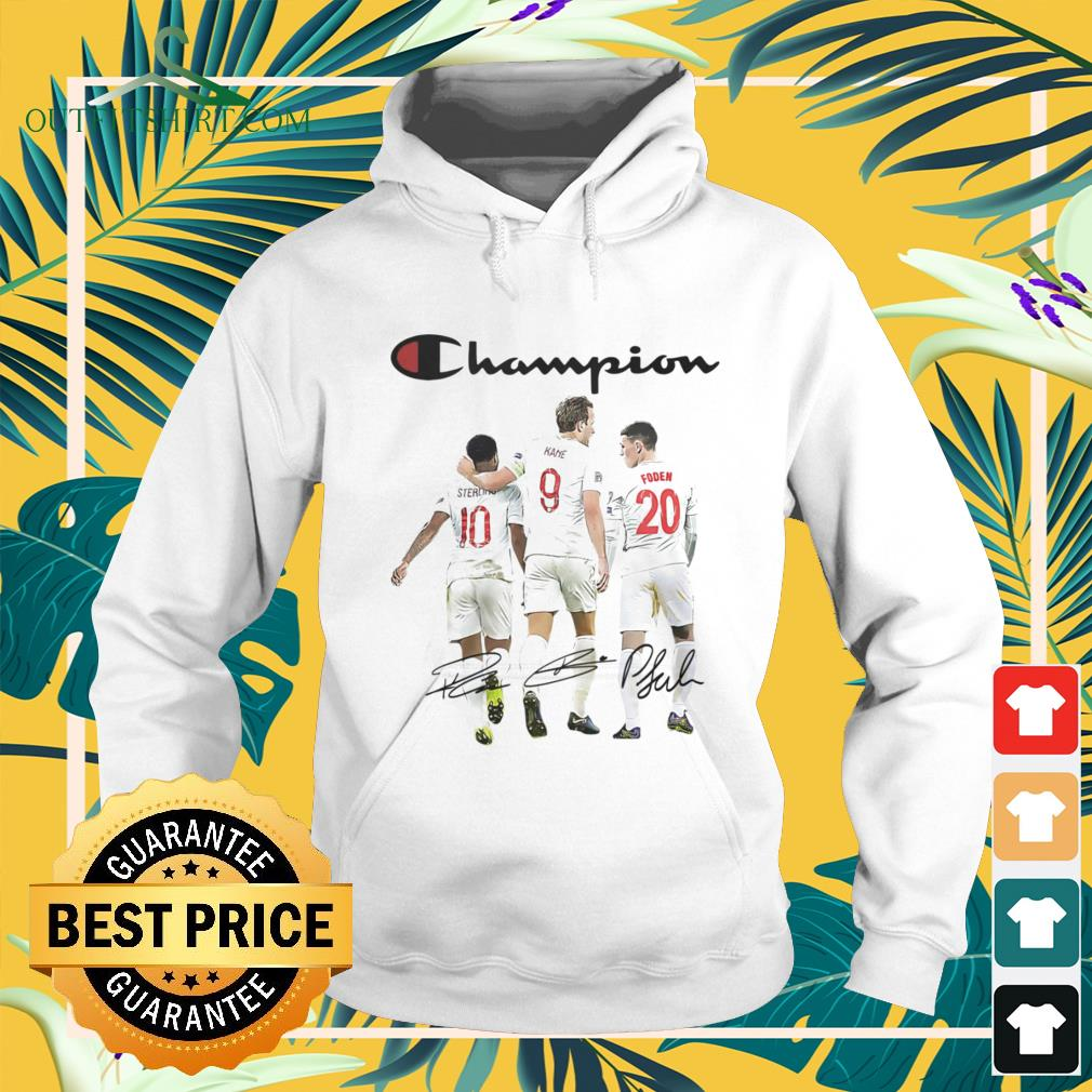 Raheem Sterling Harry Kane and Phil Foden Champion signature hoodie