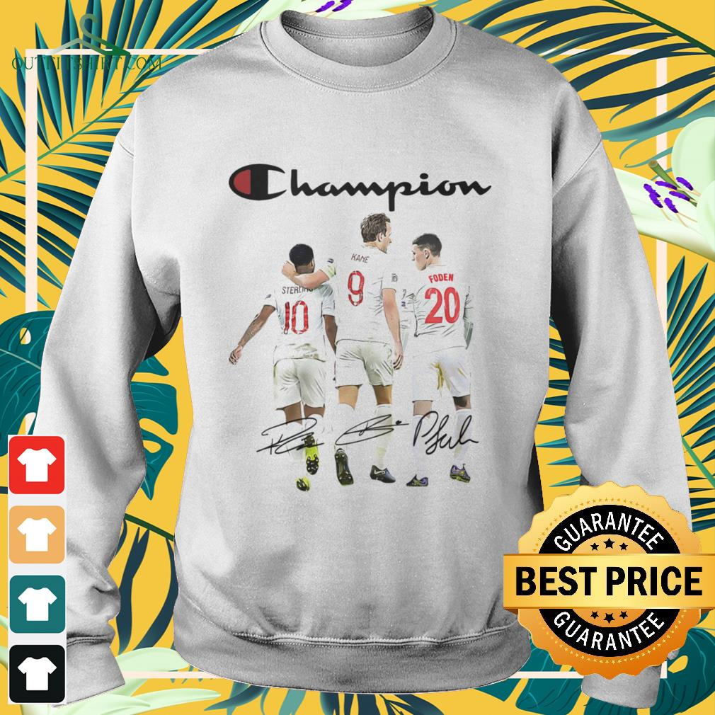 Raheem Sterling Harry Kane and Phil Foden Champion signature sweater