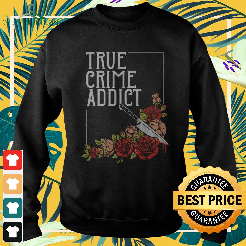Roses and knife true crime addict sweater