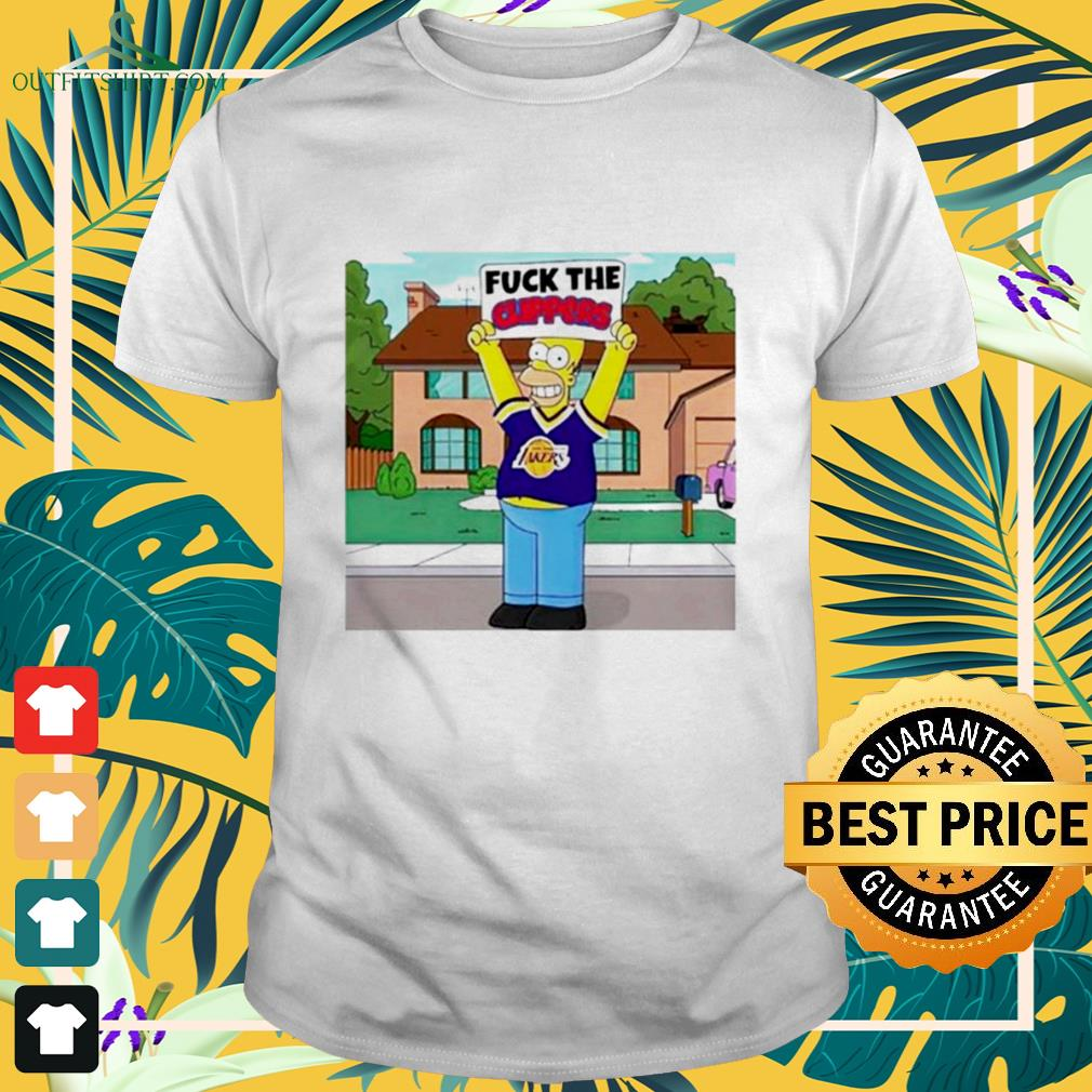 Simpson Los Angeles Lakers fuck the Clippers shirt