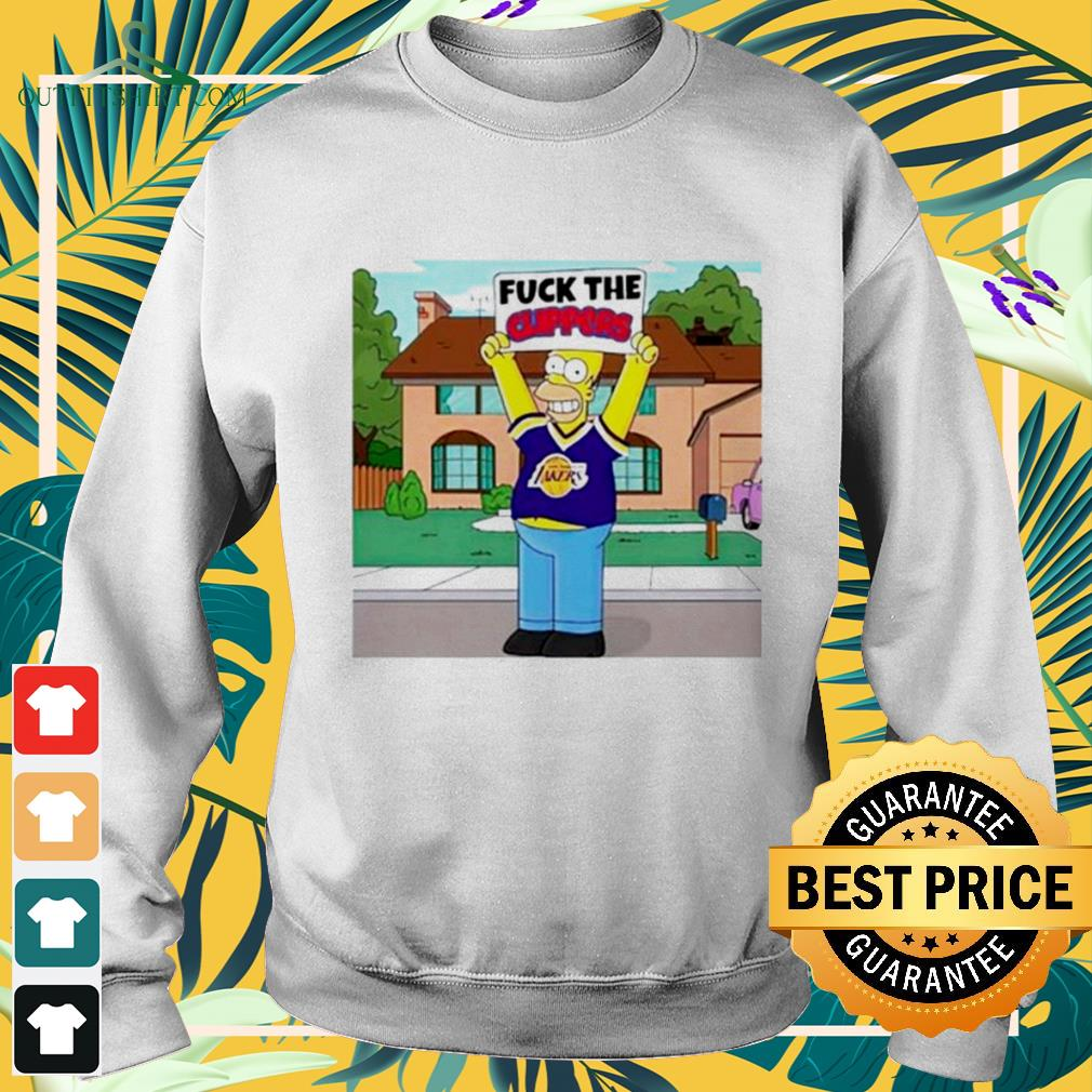 Simpson Los Angeles Lakers fuck the Clippers sweater