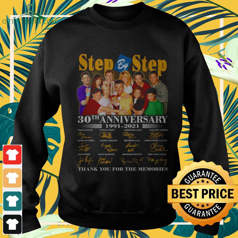 Step by Step 30th anniversary 1991-2021 thank you for the memories sweater