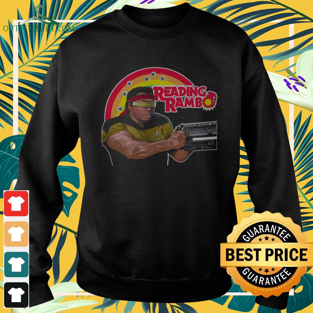 Sylvester Stallone Reading Rambo sweater