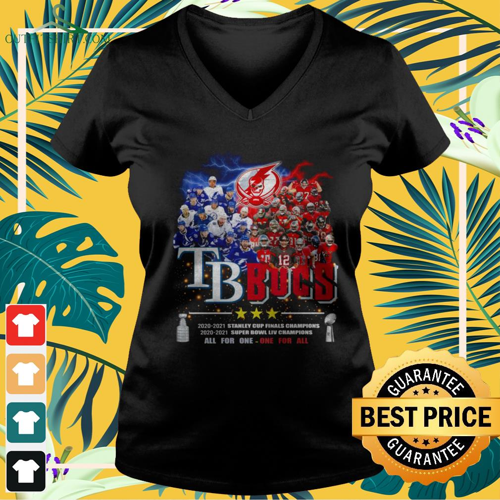 Tampa Bay Buccaneers All for one one for all Champions v-neck t-shirt