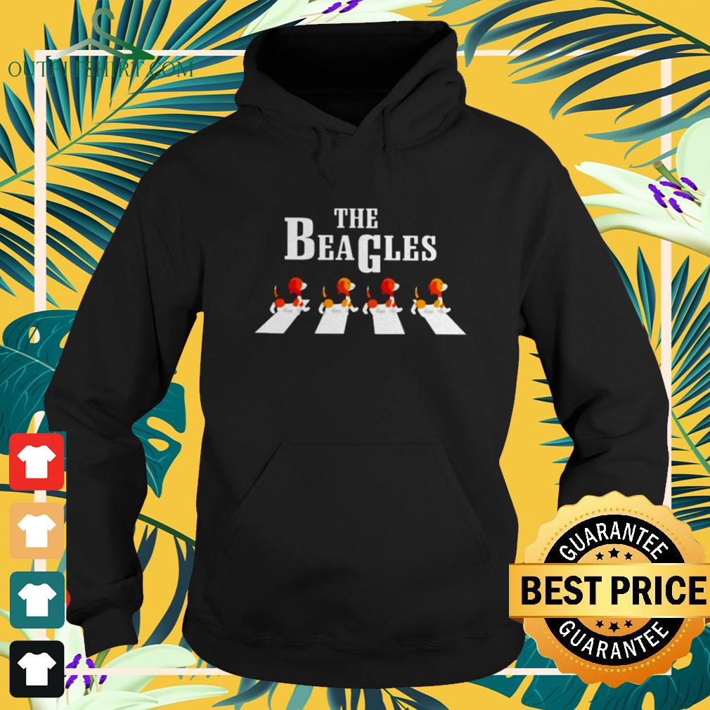 The Beagles Abbey Road dog lovers hoodie