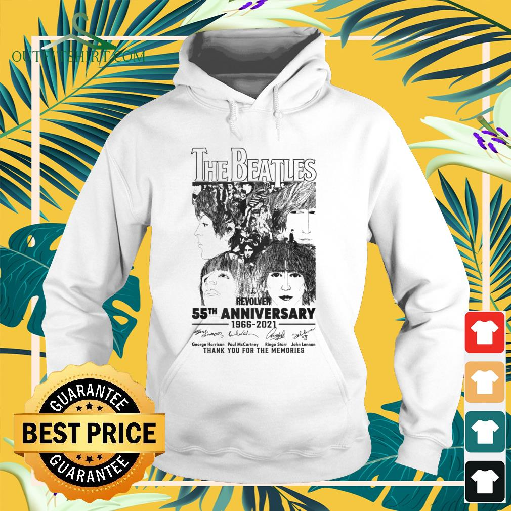 The Beatles Revolver 55th Anniversary 1966-2021 thank you for the memories signatures hoodie