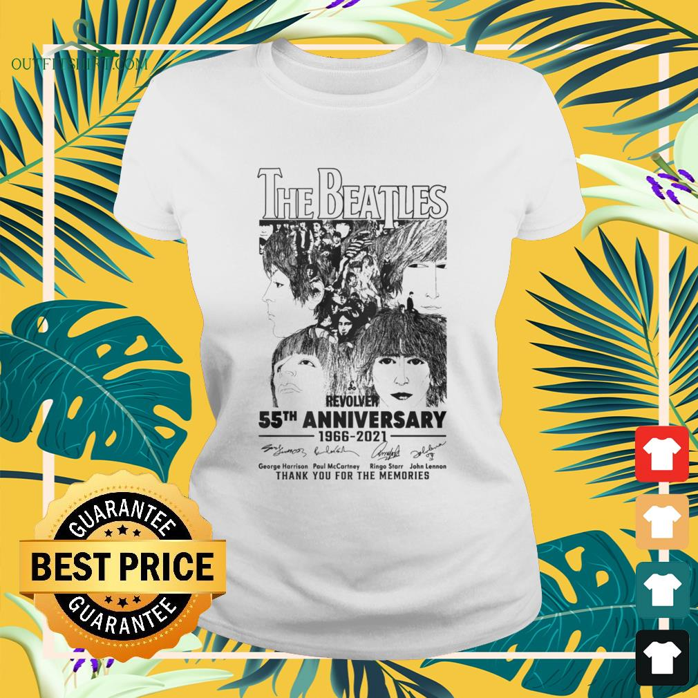 The Beatles Revolver 55th Anniversary 1966-2021 thank you for the memories signatures ladies-tee