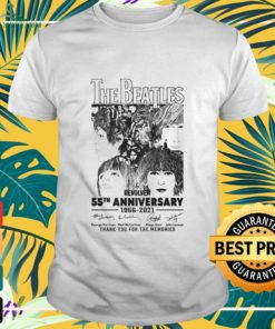 The Beatles Revolver 55th Anniversary 1966-2021 thank you for the memories signatures shirt