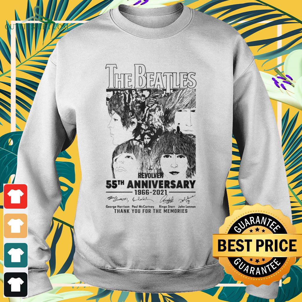 The Beatles Revolver 55th Anniversary 1966-2021 thank you for the memories signatures sweater