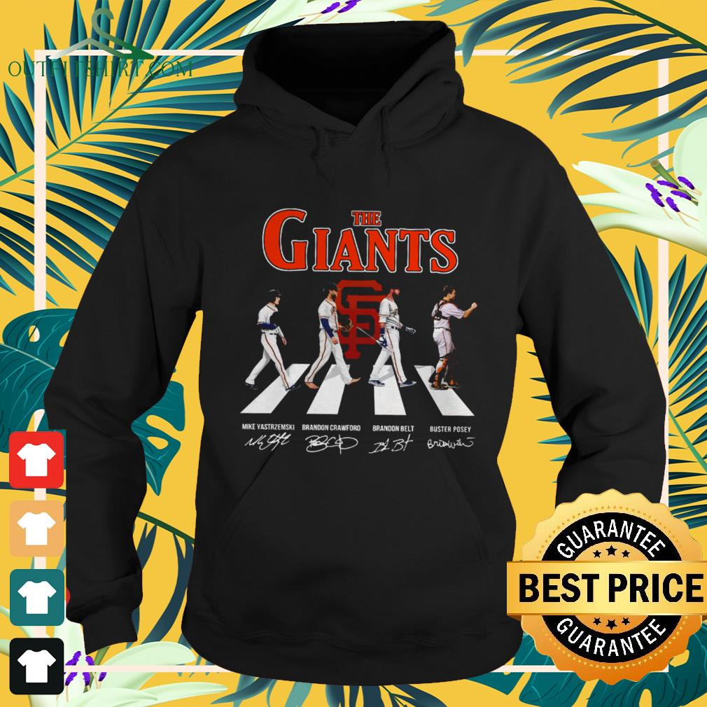 The Giants Abbey Road signatures hoodie