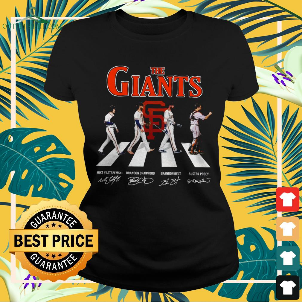The Giants Abbey Road signatures ladies-tee