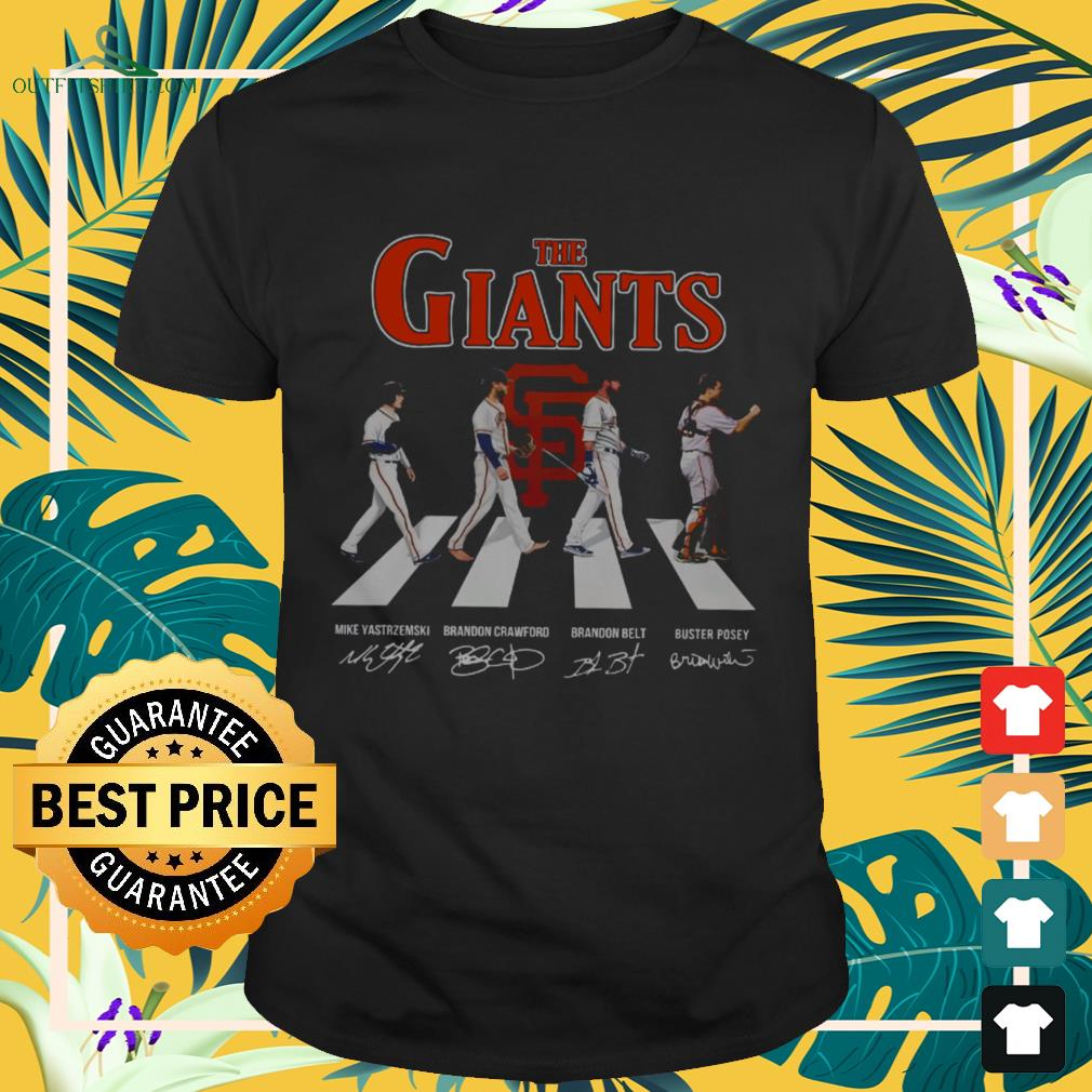 The Giants Abbey Road signatures shirt