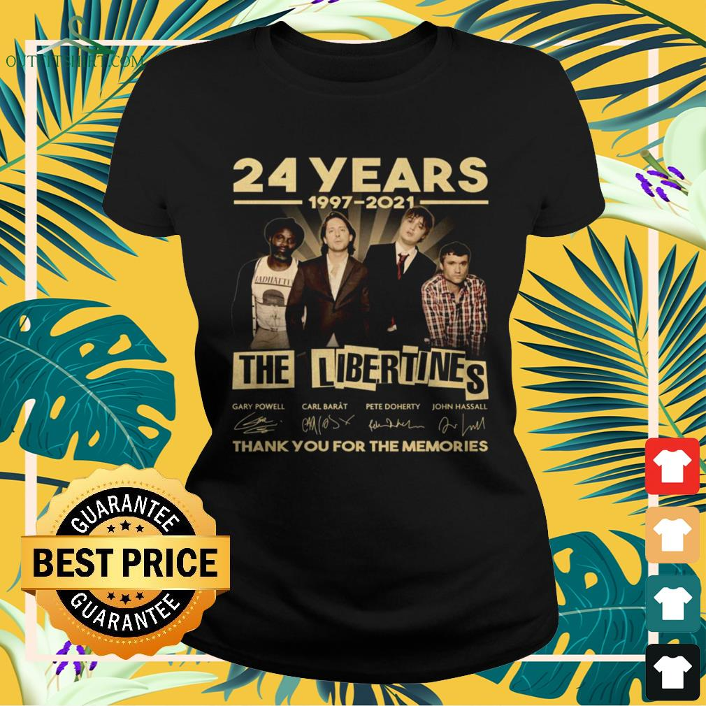 The Libertines 24 Years 1997-2021 thank you for the memories signature ladies-tee