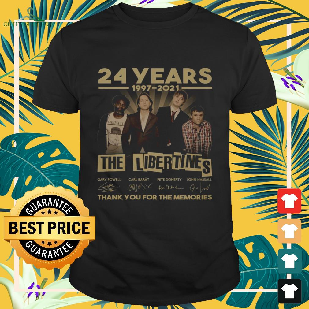 The Libertines 24 Years 1997-2021 thank you for the memories signature shirt