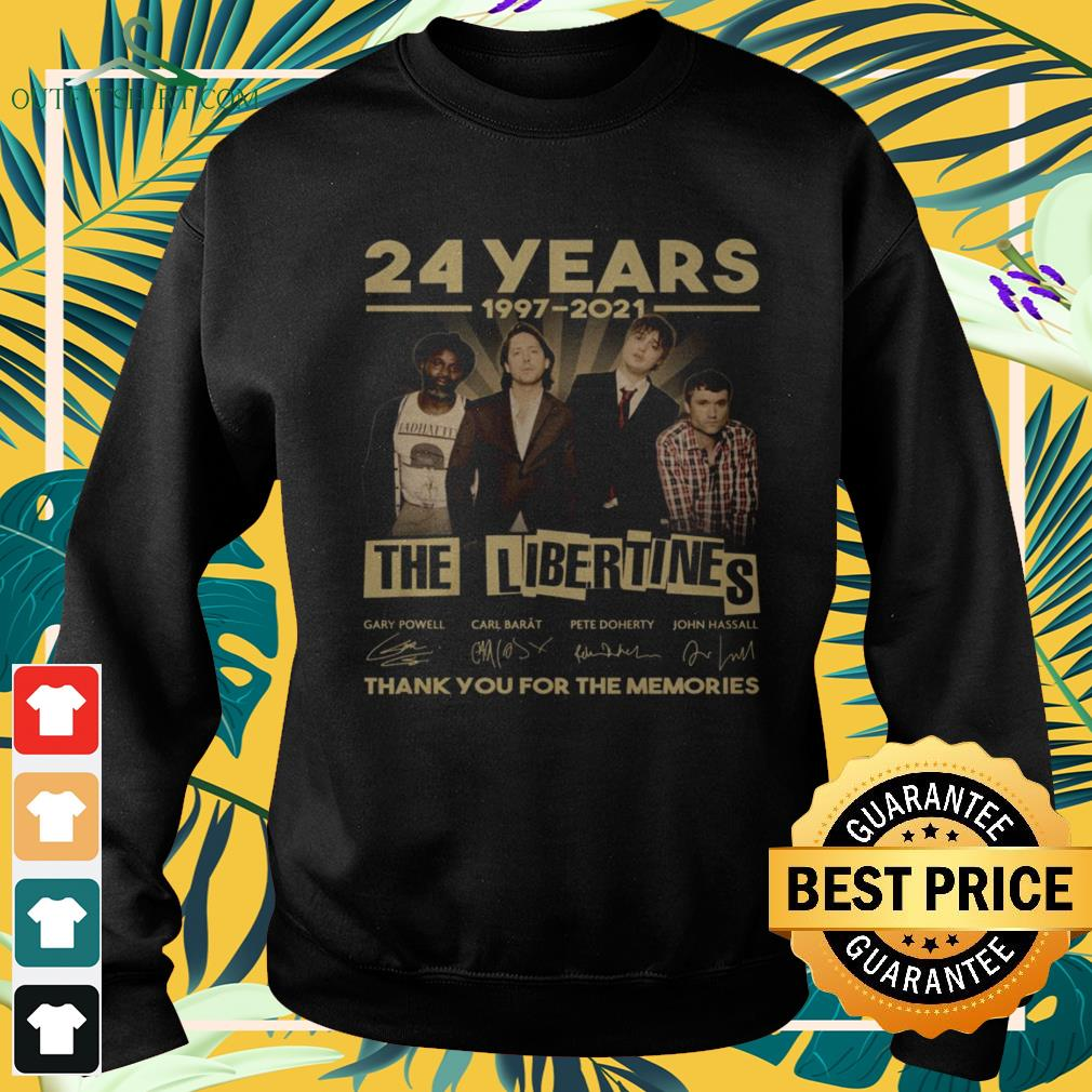 The Libertines 24 Years 1997-2021 thank you for the memories signature sweater