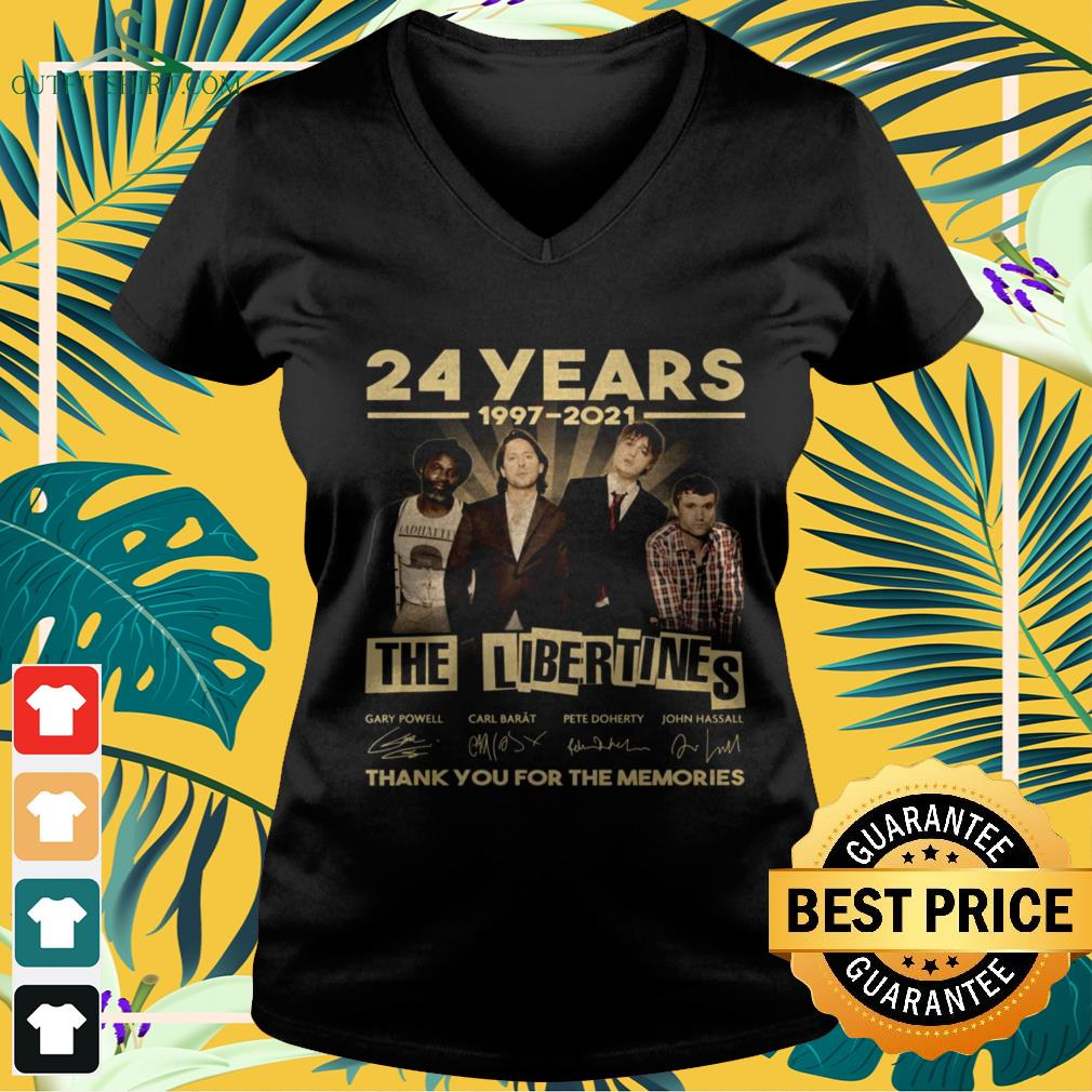 The Libertines 24 Years 1997-2021 thank you for the memories signature v-neck t-shirt