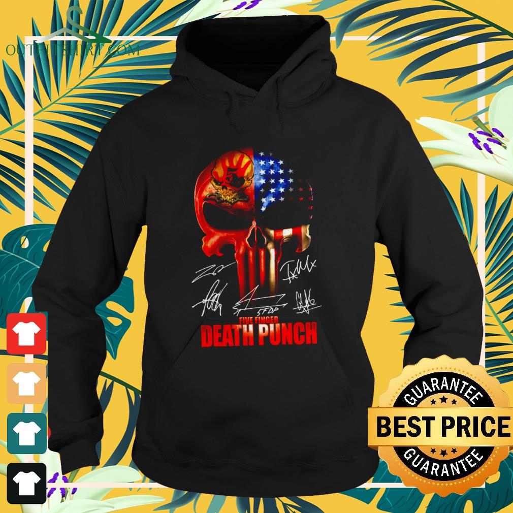 ` The Punisher Skull Five Finger Death Punch signatures hoodie