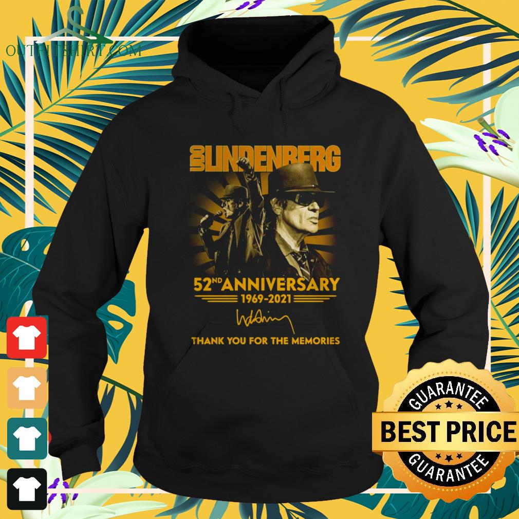 Udo Lindenberg 52nd Anniversary 1969-2021 thank you for the memories hoodie
