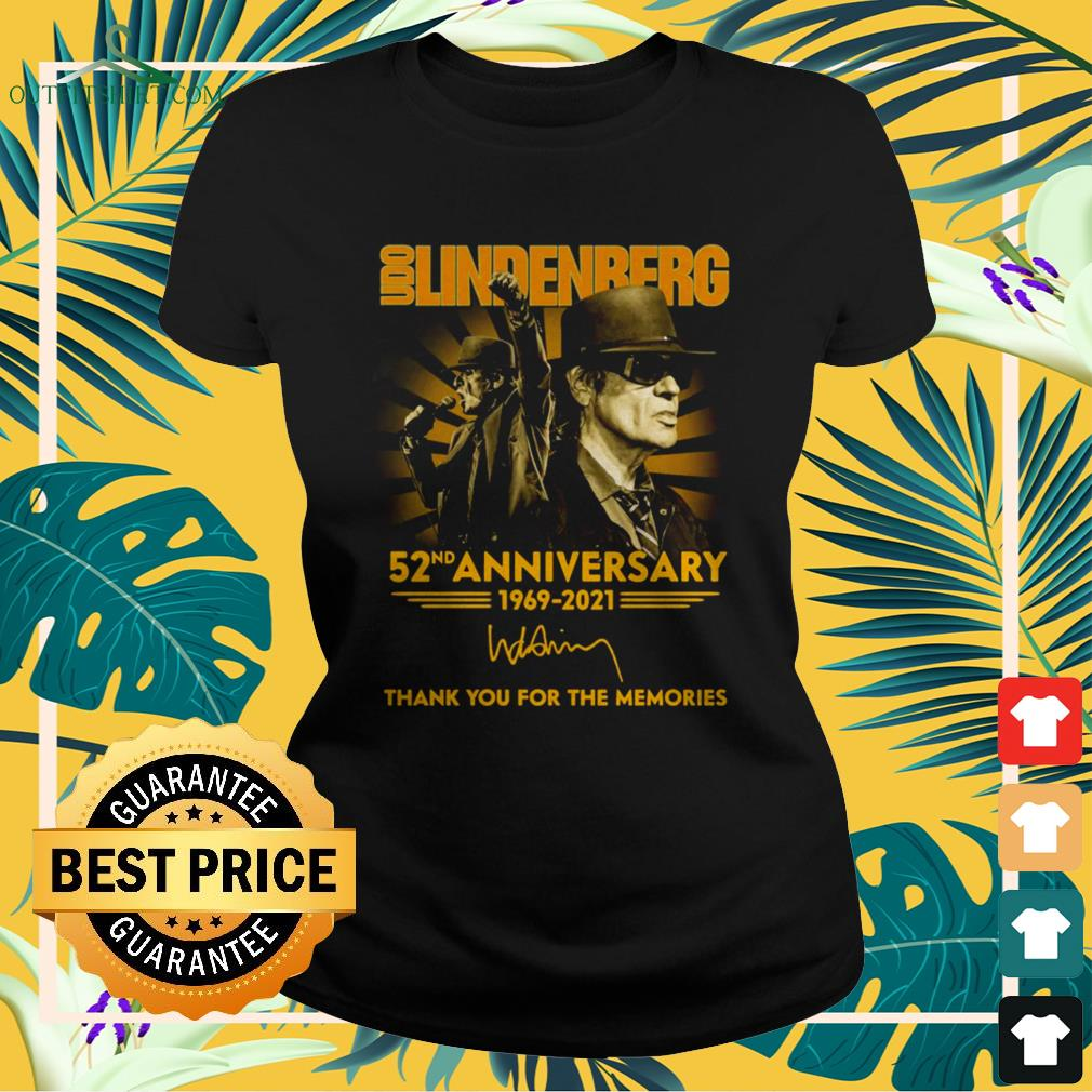 Udo Lindenberg 52nd Anniversary 1969-2021 thank you for the memories ladies-tee