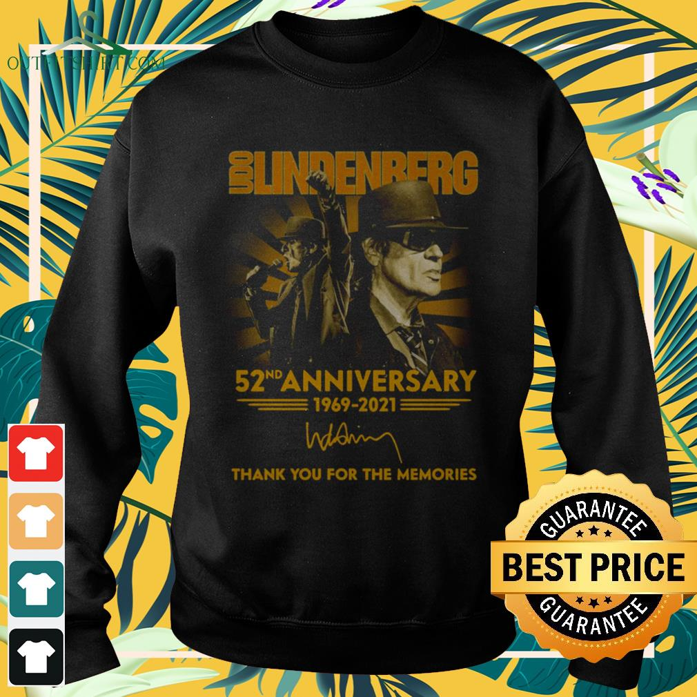 Udo Lindenberg 52nd Anniversary 1969-2021 thank you for the memories sweater