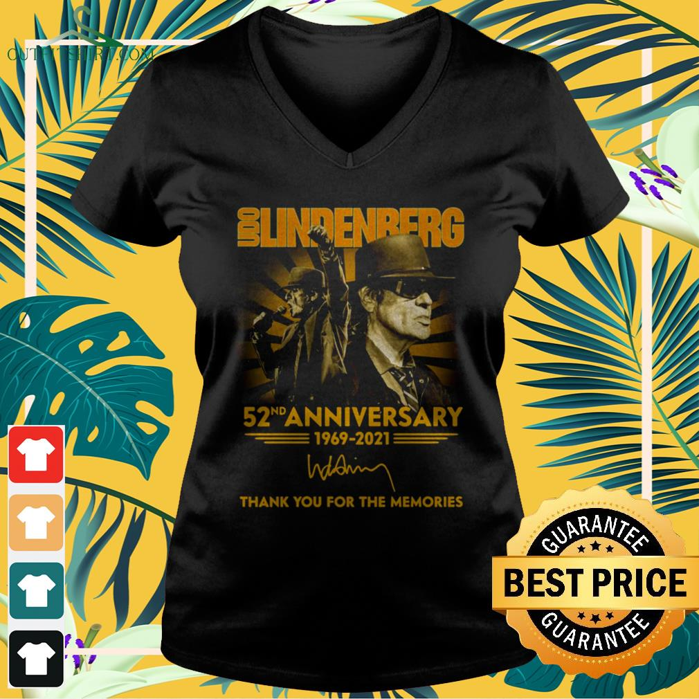 Udo Lindenberg 52nd Anniversary 1969-2021 thank you for the memories v-neck t-shirt