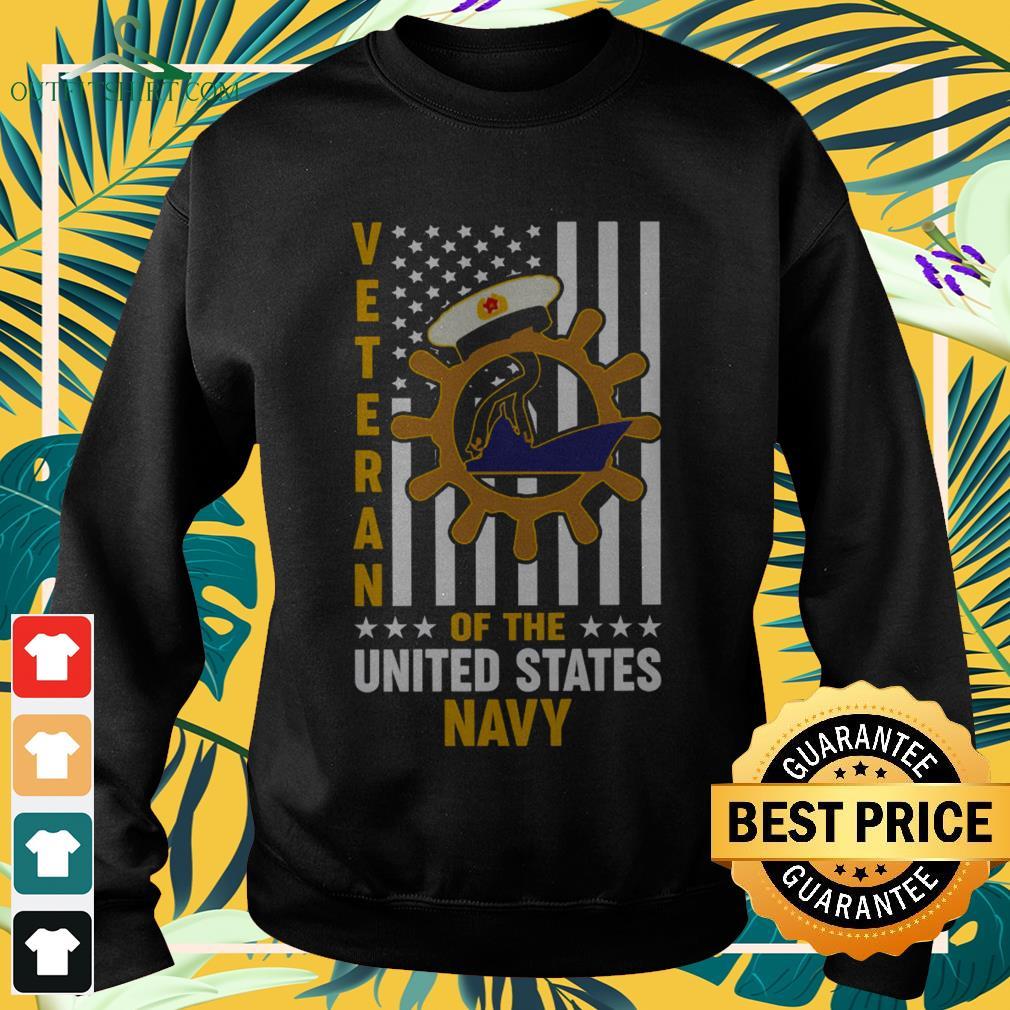 Veteran of the United States navy flag sweater