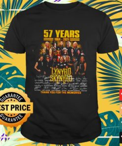 57 Years Lynyrd Skynyrd thank you for the memories signatures shirt