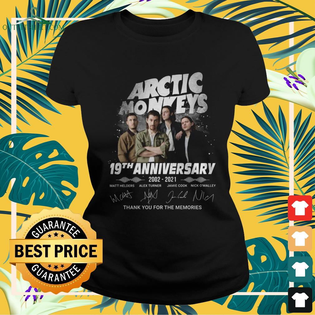 Arctic Monkeys 19th Anniversary 2002-2021 thank you for the memories signature ladies-tee