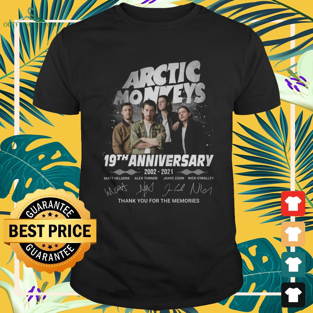 Arctic Monkeys 19th Anniversary 2002-2021 thank you for the memories signature shirt