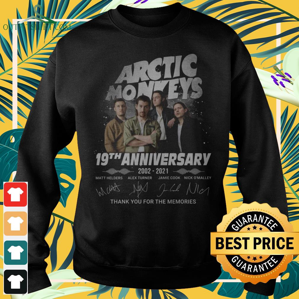 Arctic Monkeys 19th Anniversary 2002-2021 thank you for the memories signature sweater